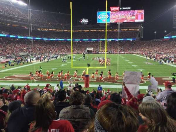 Levi's Stadium, section: 103, row: 17, seat: 3