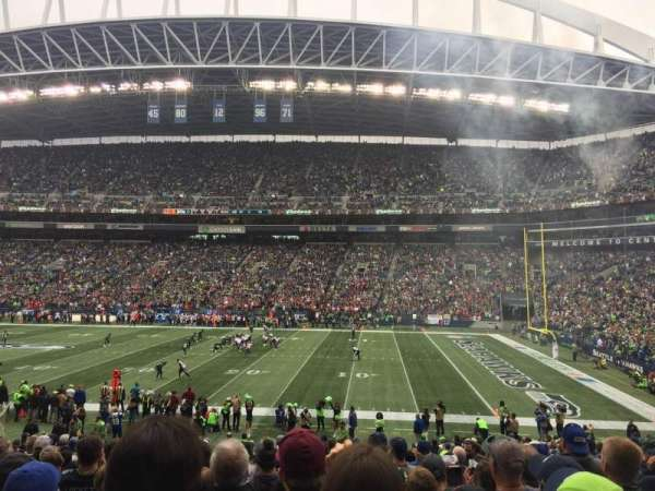 CenturyLink Field, section: 132, row: Z, seat: 5