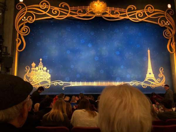 Broadhurst Theatre, section: center orchestra, row: L, seat: 104