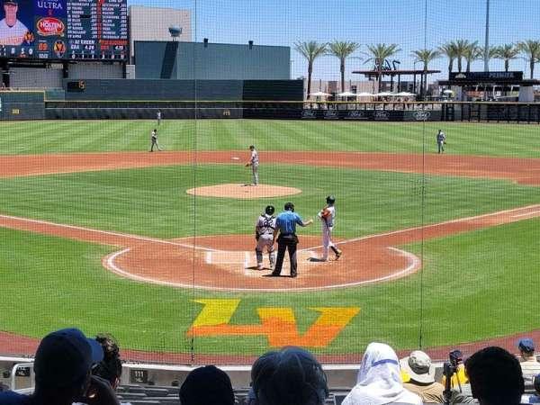 Las Vegas Ballpark, section: 111, row: T, seat: 6