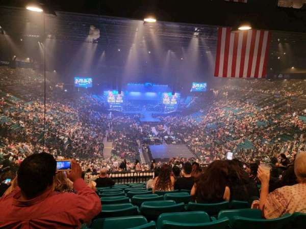 MGM Grand Garden Arena, section: 203, row: K, seat: 8