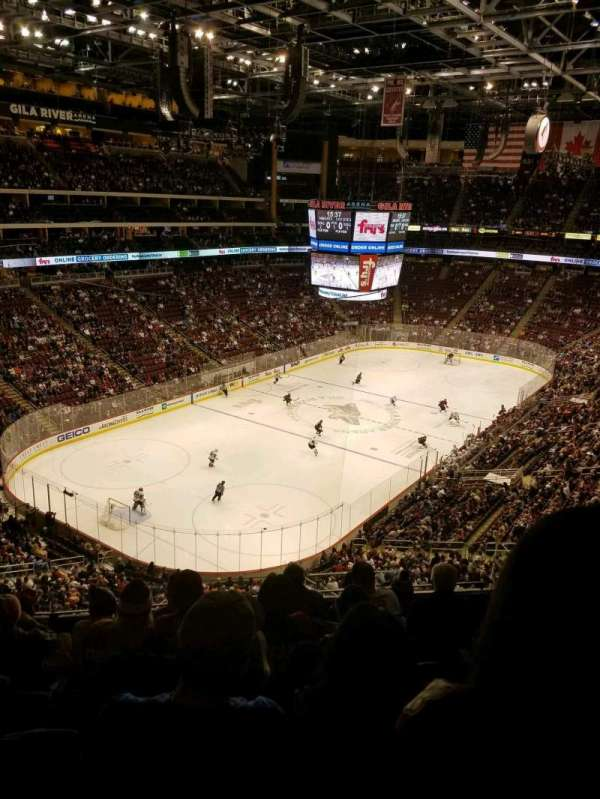 Gila River Arena, section: 205, row: G, seat: 10