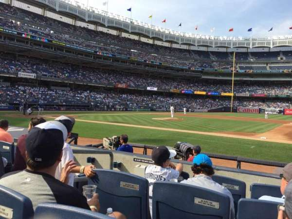 Yankee Stadium, section: 015A, row: 4, seat: 8