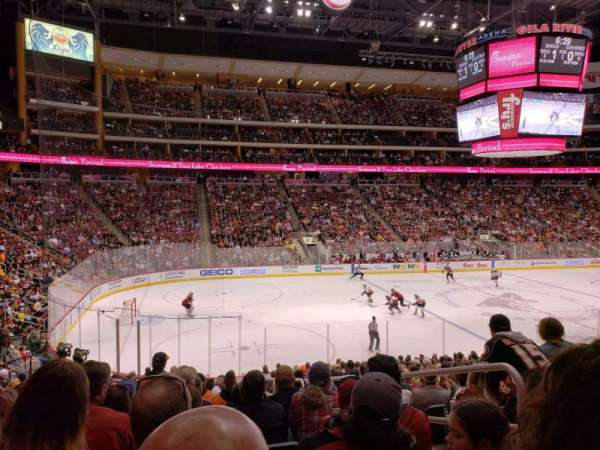 Gila River Arena, section: 114, row: T, seat: 5