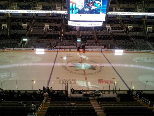SAP Center, section: 215, row: 1, seat: 21