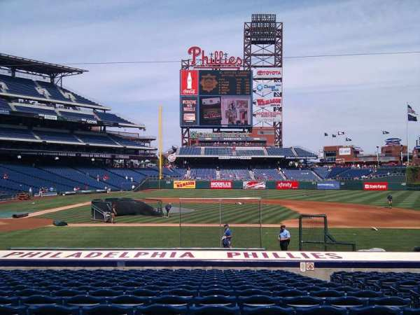 Citizens Bank Park, section: 117, row: 16, seat: 5