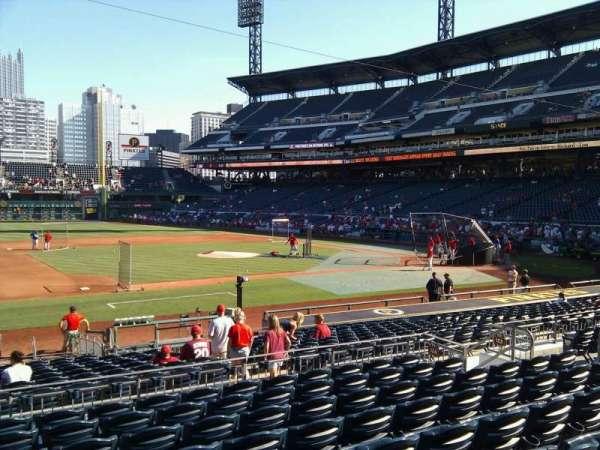 PNC Park, section: 124, row: j, seat: 14