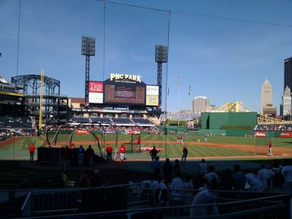 PNC Park, section: 114, row: a, seat: 7