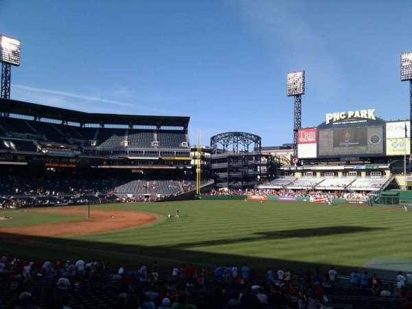 PNC Park, section: 103, row: w, seat: 1