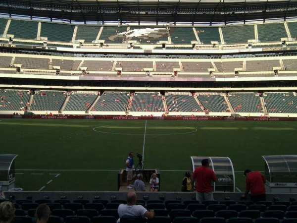 Lincoln Financial Field, section: 101, row: 11, seat: 12