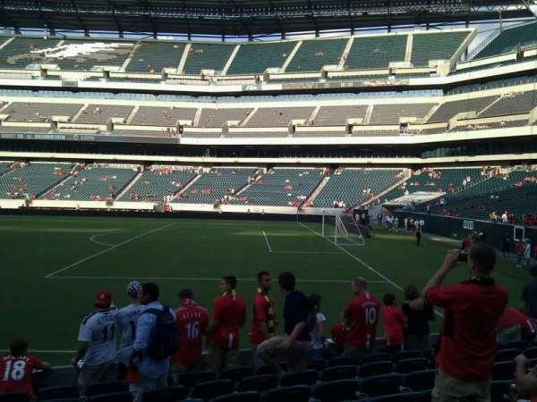 Lincoln Financial Field, section: 105, row: 9, seat: 21