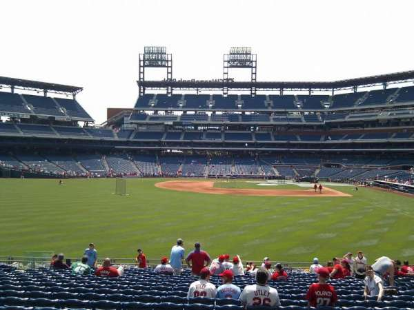 Citizens Bank Park, section: 143, row: 19, seat: 9