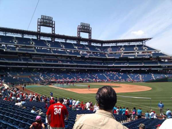 Citizens Bank Park, section: 110, row: 25, seat: 10
