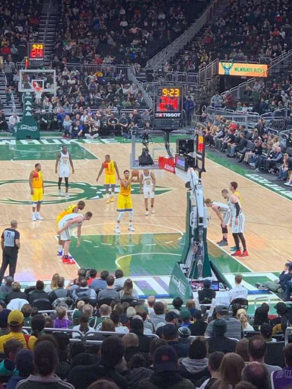 Fiserv Forum, section: 113, row: 22, seat: 5