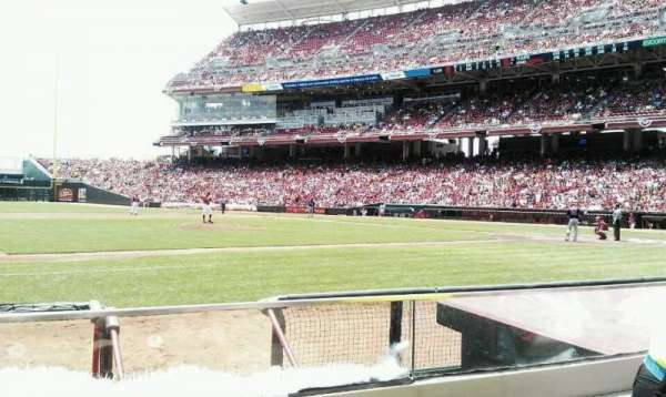 Great American Ball Park, section: 115, row: G, seat: 2