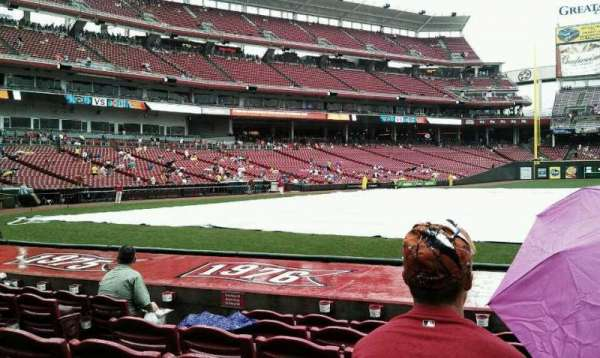 Great American Ball Park, section: 130, row: L, seat: 9