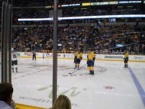 Bridgestone Arena, section: 106, row: CC, seat: 9
