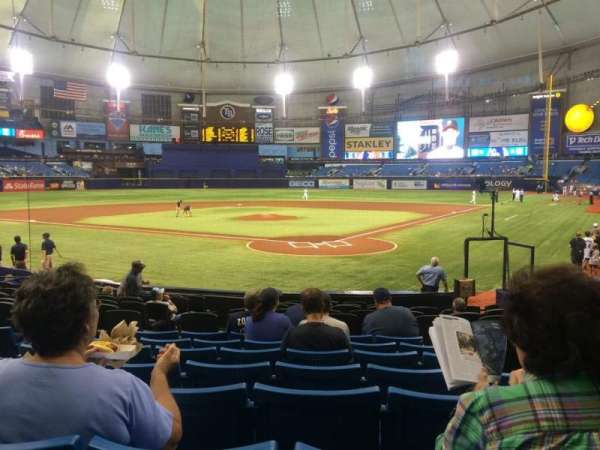 Tropicana Field, section: 103, row: T, seat: 7-8