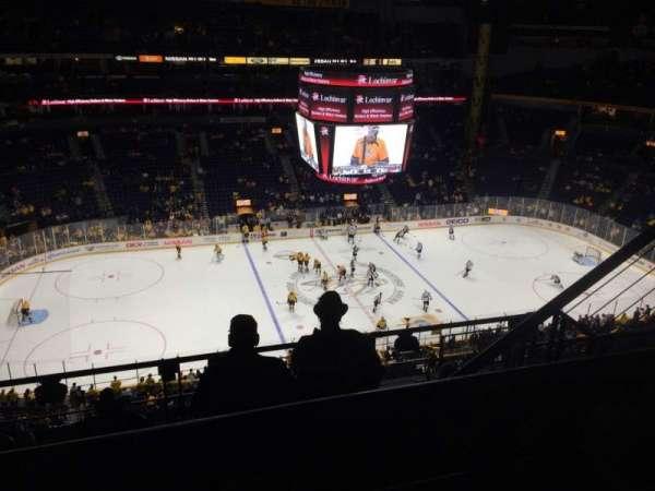 Bridgestone Arena, section: 308, row: G, seat: 3-4