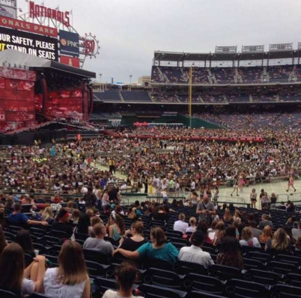 Nationals Park, section: 109, row: HH, seat: 10