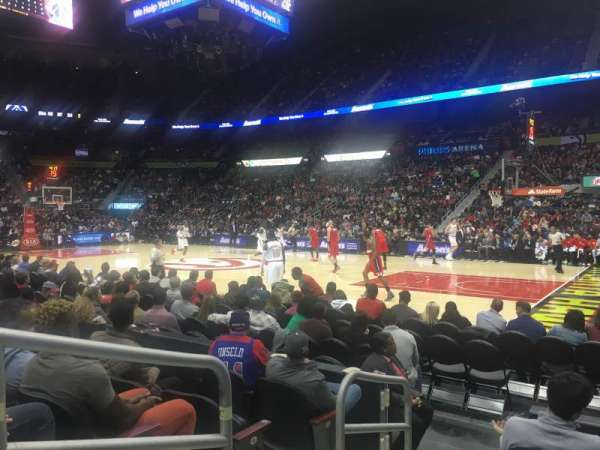 State Farm Arena, section: 106, row: E, seat: 9-10