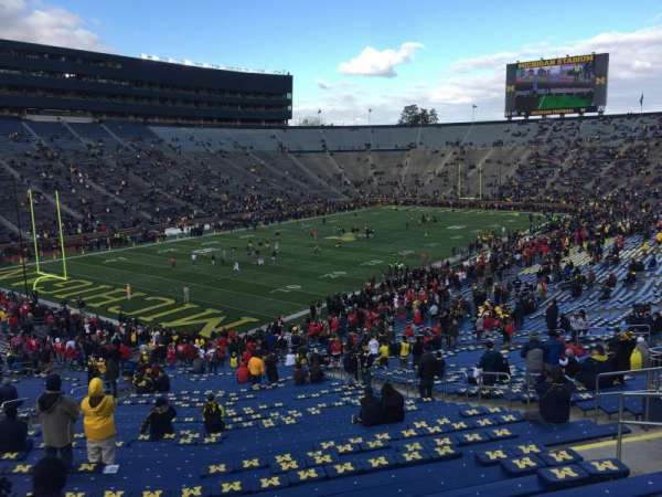 Michigan Stadium, section: 7, row: 64, seat: 4