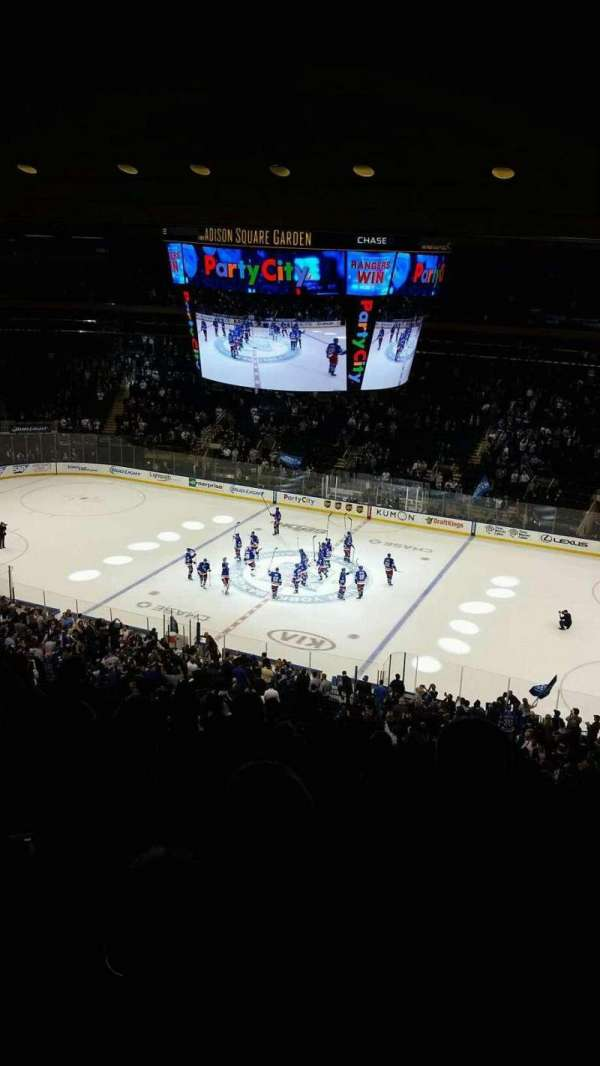 Madison Square Garden, section: 213, row: 13, seat: 11