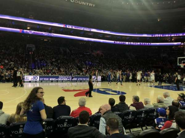 Wells Fargo Center, section: 112, row: 1, seat: 18-19