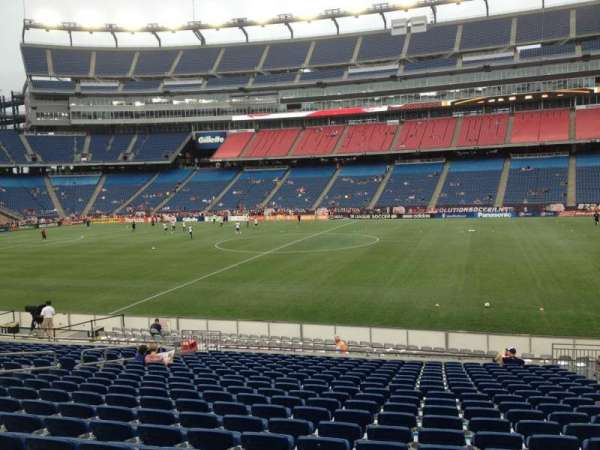Gillette Stadium, section: 130, row: 20, seat: 7