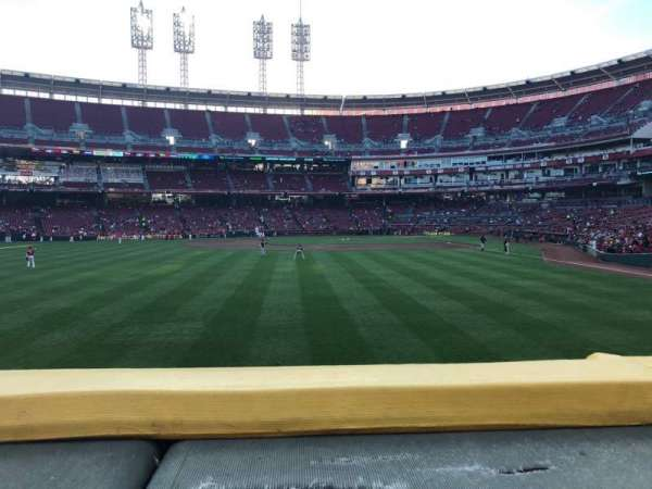 Great American Ball Park, section: 104, row: A, seat: 10