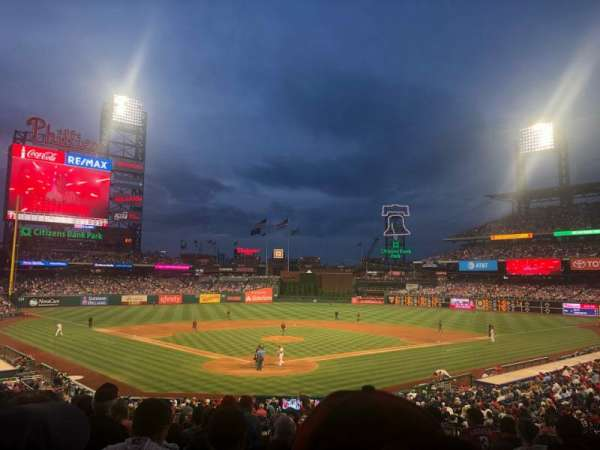 Citizens Bank Park, section: 123, row: 31, seat: 1