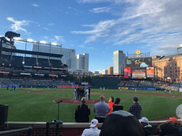 Oriole Park at Camden Yards, section: 34, row: 6, seat: 13