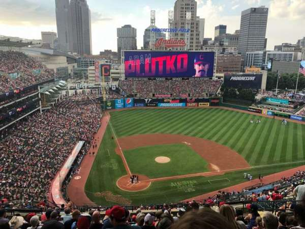 Progressive Field, section: 551, row: V, seat: 12
