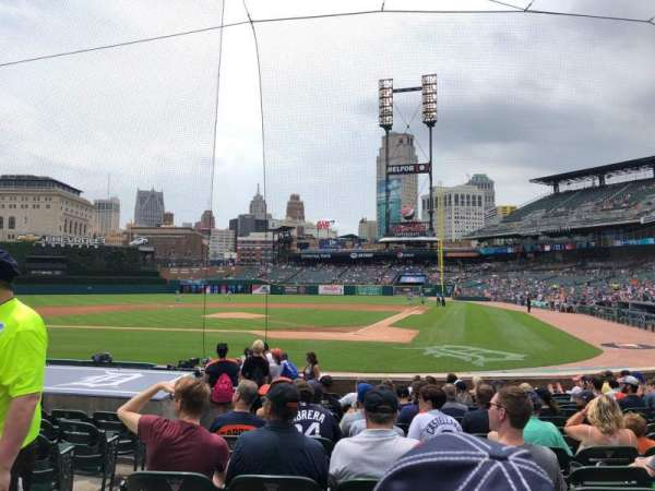 Comerica Park, section: 130, row: 15, seat: 10