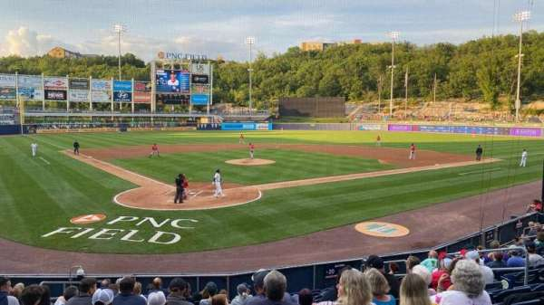PNC Field, section: 20, row: 12, seat: 10