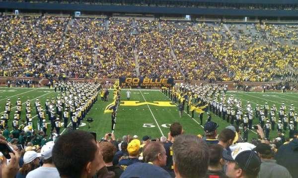 Michigan Stadium, section: 1, row: 23, seat: 5