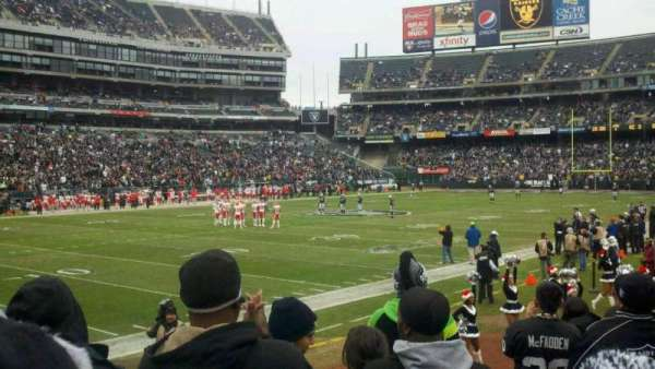 Oakland Coliseum, section: 123, row: 15, seat: 11