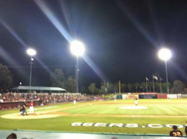 San Manuel Stadium, section: 110, row: G, seat: 1