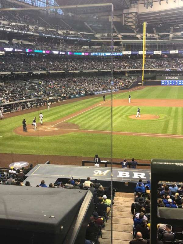 Miller Park, section: 213, row: 1, seat: 1