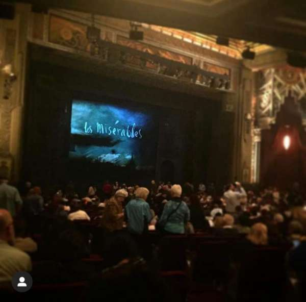 Hollywood Pantages Theatre, section: Orchestra L, row: QQ, seat: 5