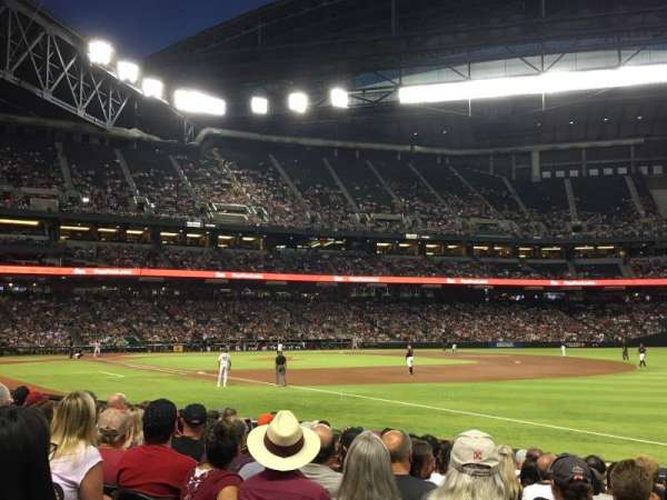 Chase Field, section: 112, row: 20, seat: 20