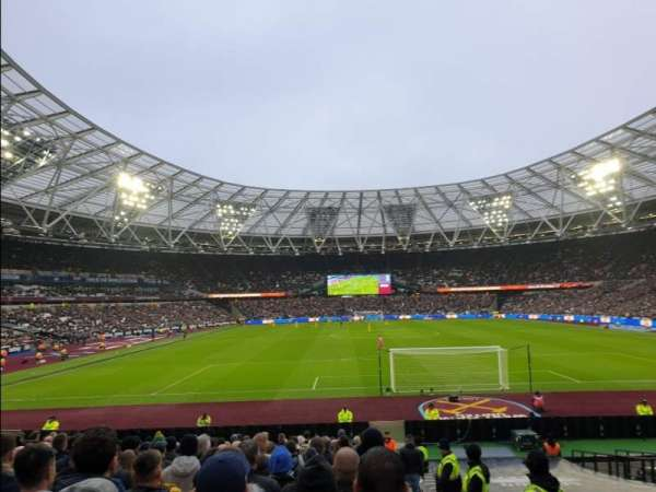 London Stadium, section: 120, row: 22, seat: 55