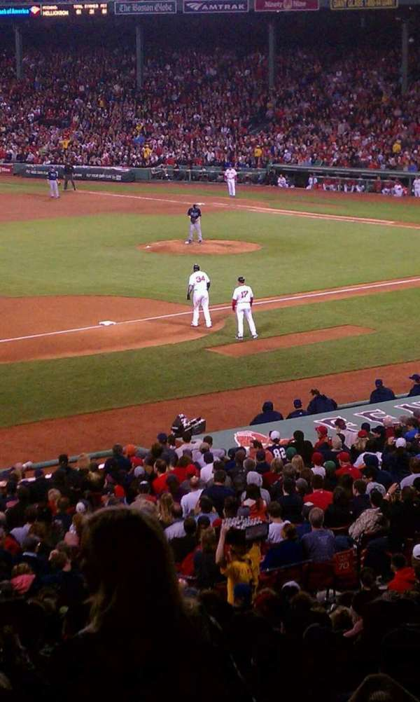 Fenway Park, section: Grandstand 29, row: 8, seat: 17