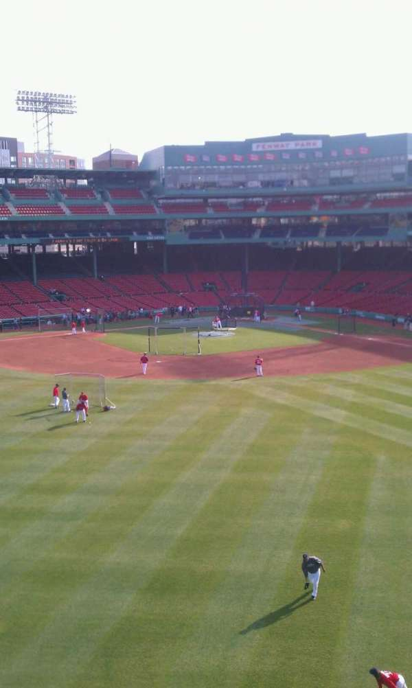 Fenway Park, section: Green Monster 7, row: 1, seat: 3