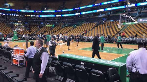 TD Garden, section: Loge 20, row: 1, seat: 7