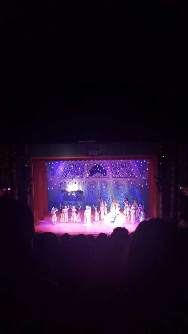 New Amsterdam Theatre, section: Mezzanine C, row: Pp, seat: 105