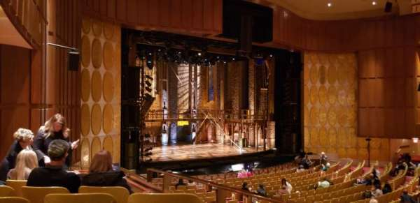 Fisher Theatre, section: MZLT, row: FF, seat: 65