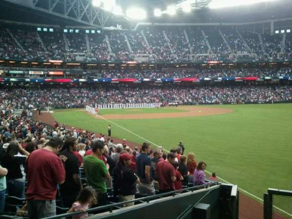 Chase Field, section: 108 , row: 25, seat: 9
