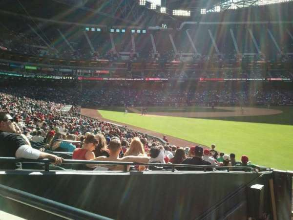 Chase Field, section: 108 , row: 25 , seat: 9
