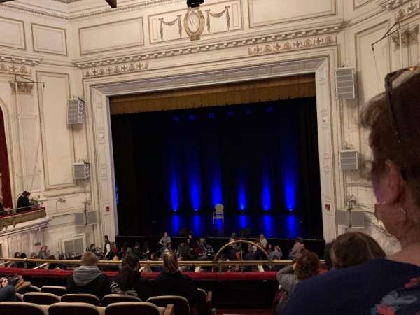 Wilbur Theatre, section: MEZZ, row: G, seat: 2
